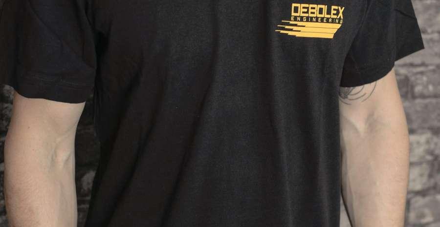 deBolex tee yellow logo