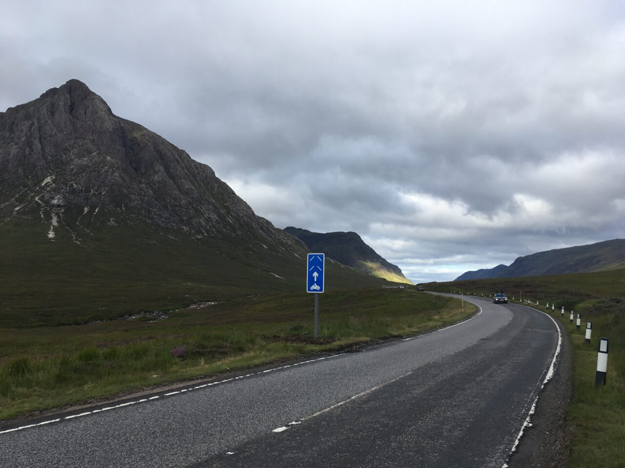 PRIMEs road sign on the A82