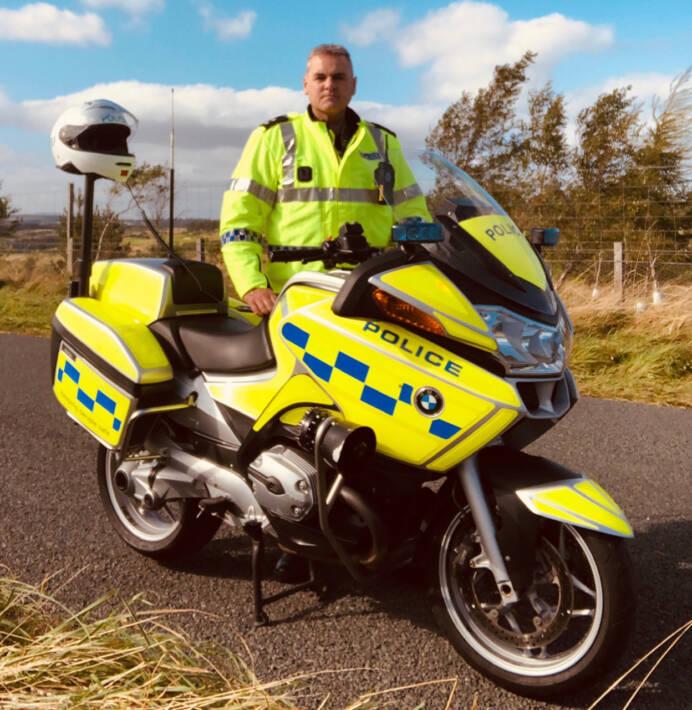 Police rider colin reid